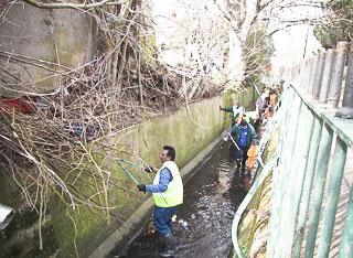 RESIDENTS TURN OUT  IN FORCE TO PROTECT HISTORIC BROOK