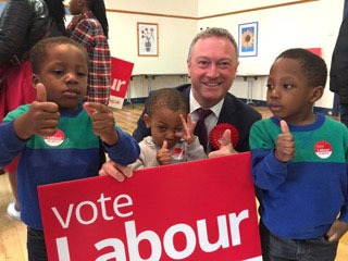 THE LABOUR CANDIDATE WITH A STRONG MAJORITY