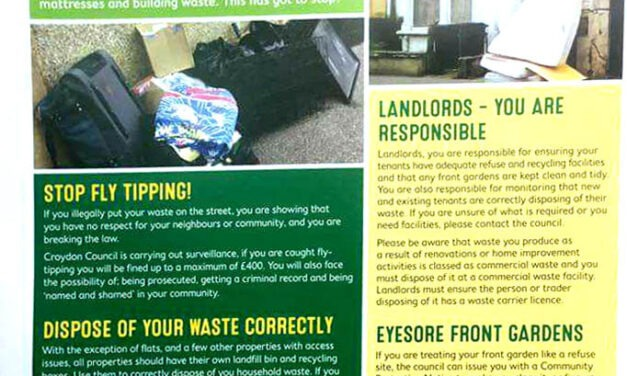 DRAMATIC DROP IN FLY TIPPING AFTER UNITED FRONT
