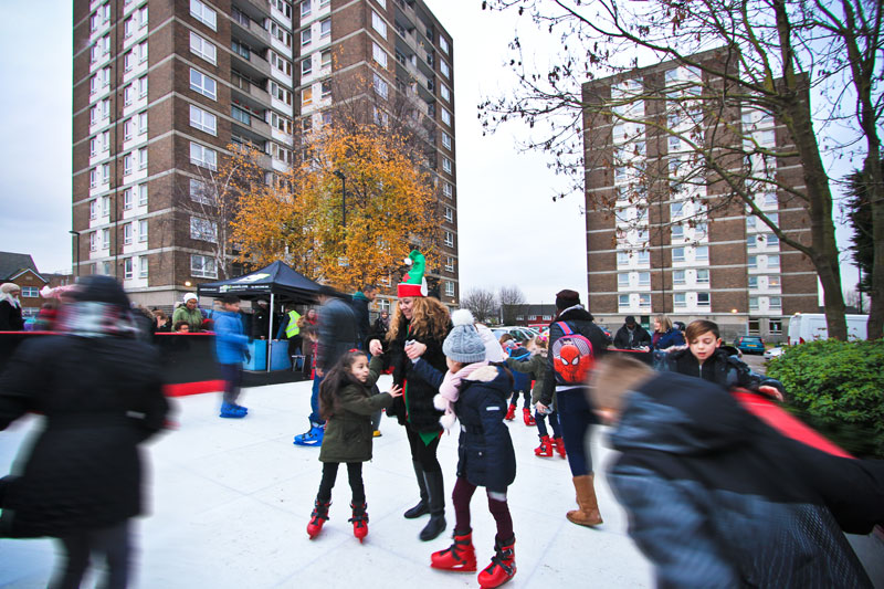 FESTIVE FUN AT FIRST CR7 ICE RINK