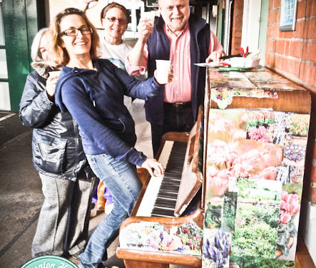 RAIN SOAKED STATION PIANO TO BE REPLACED