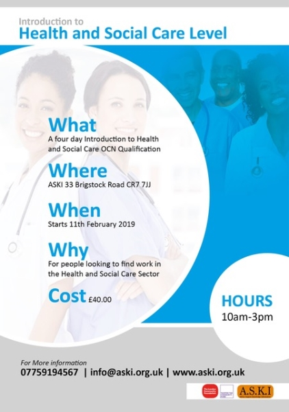 Get a qualification in health and social care
