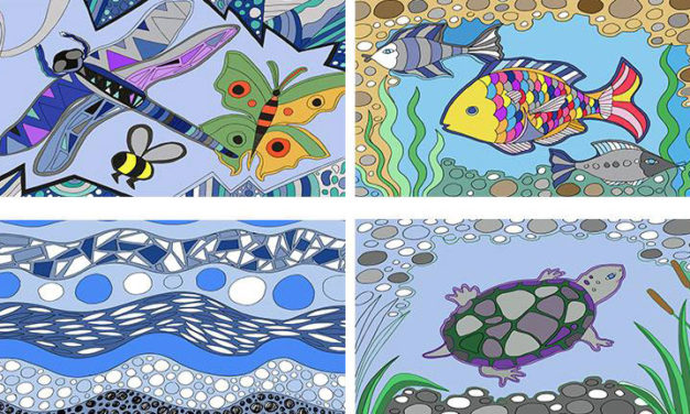 New April dates for pond mosaic