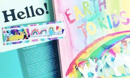 Refugee children design bookmark for author