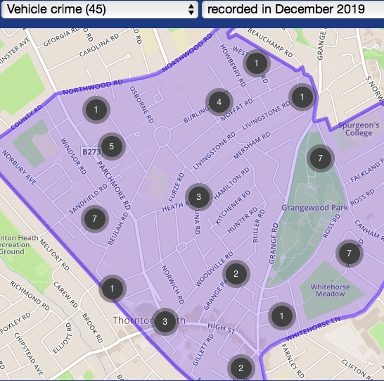 Vehicle crime spree affects neighbouring streets