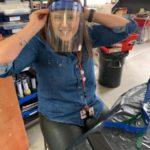 Teachers make masks and scrubs for nhs