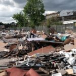 Tons of waste dumped on development site