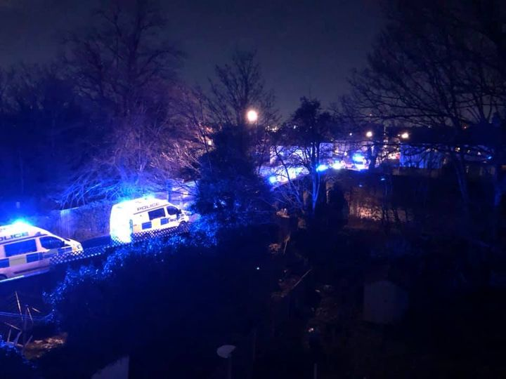 Police officers injured detaining car thief suspect