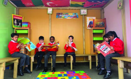 Reading Huts Built to Help Pupils Catch Up