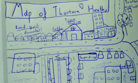 10-Year-Old's Map of Thornton Heath