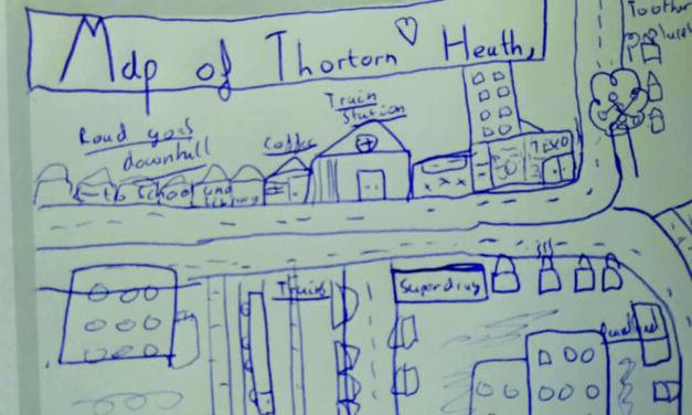 10-Year-Old's Map of Thornton Heath
