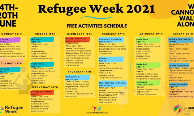 Celebrating Refugee Week in Croydon